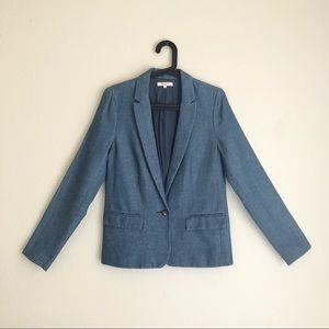 Madewell Casual Chambray Linen Blazer Jacket sz 2